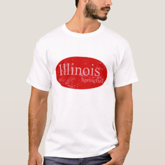 springfield Illinois Red T-Shirt