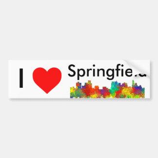 SPRINGFIELD, ILLINOIS SKYLINE BUMPER STICKER