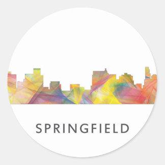 SPRINGFIELD, ILLINOIS SKYLINE WB1 - CLASSIC ROUND STICKER