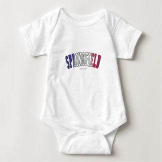 Springfield in Illinois state flag colors Baby Bodysuit