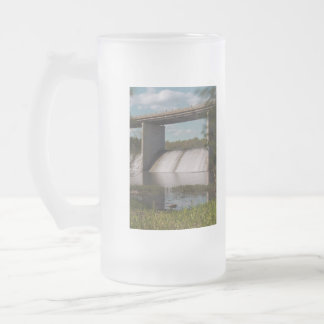 Springfield Lake Dam Frosted Glass Beer Mug