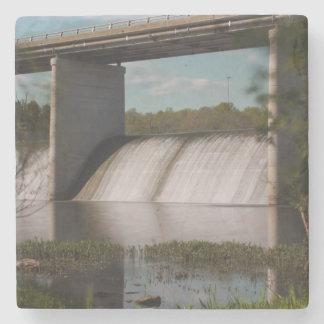 Springfield Lake Dam Stone Beverage Coaster