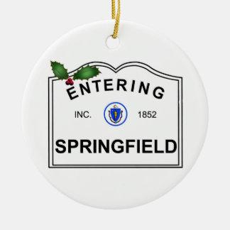 Springfield MA Christmas Ornaments