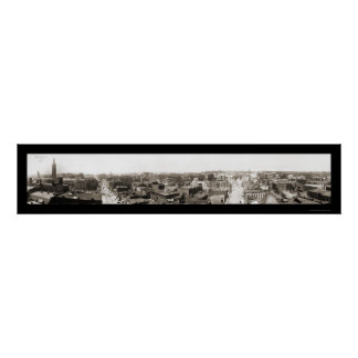 Springfield MA Panview Photo 1913 Posters