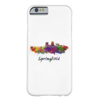 Springfield MA skyline in watercolor Barely There iPhone 6 Case
