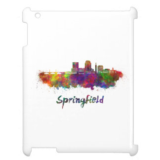 Springfield MA skyline in watercolor Cover For The iPad