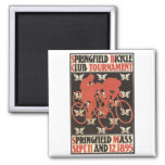 Springfield Mass. 1895 Bicycle Tournament 2 Inch Square Magnet