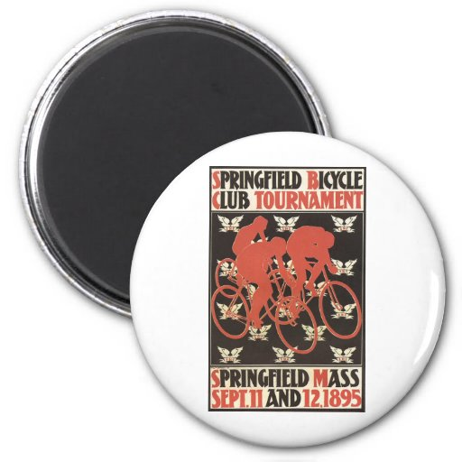 Springfield Mass. 1895 Bicycle Tournament Refrigerator Magnets