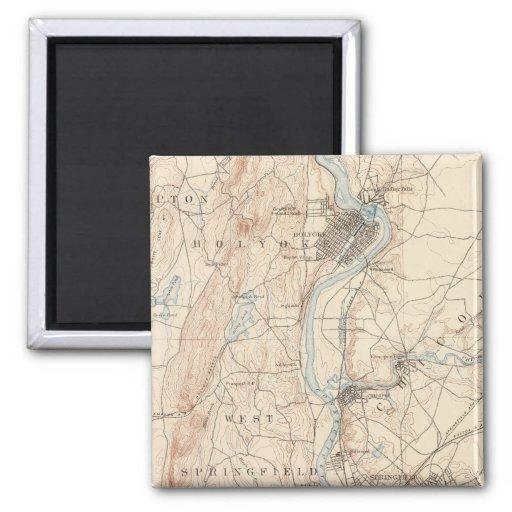 Springfield, Massachusetts 2 Inch Square Magnet