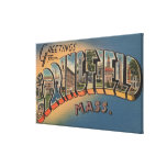 Springfield, Massachusetts - Large Letter 2 Canvas Print