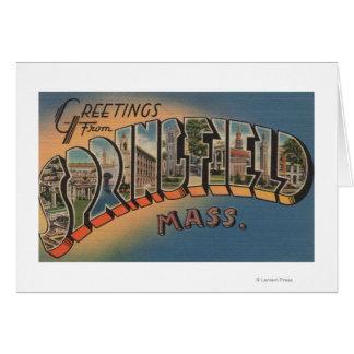 Springfield, Massachusetts - Large Letter 2 Greeting Card