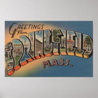 Springfield, Massachusetts - Large Letter 2 Poster