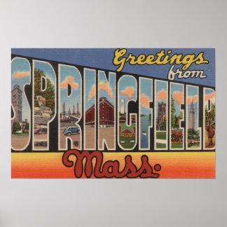 Springfield, Massachusetts - Large Letter Poster
