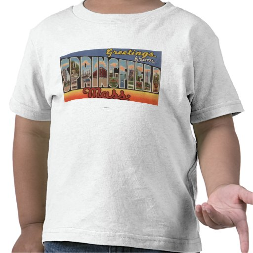 Springfield, Massachusetts - Large Letter Tshirts