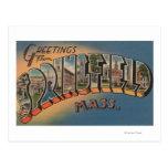 Springfield, Massachusetts - letra grande 2 Postal
