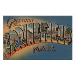 Springfield, Massachusetts - letra grande 2 Poster