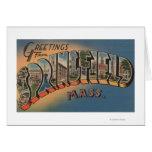 Springfield, Massachusetts - letra grande 2 Tarjetas
