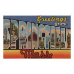 Springfield, Massachusetts - letra grande Póster