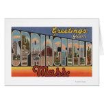 Springfield, Massachusetts - letra grande Tarjeta De Felicitación