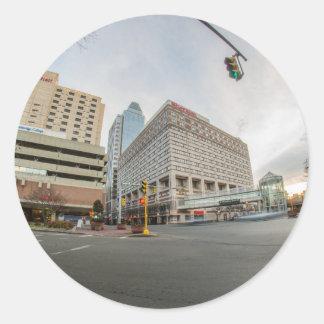 springfield massachusetts skyline classic round sticker