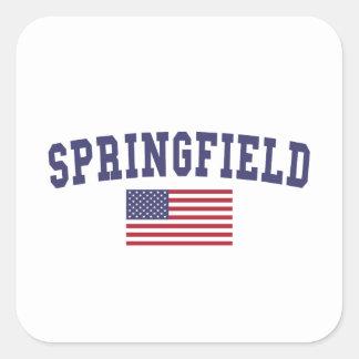 Springfield MO US Flag Square Sticker