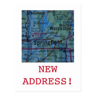Springfield New Address announcement Postcard