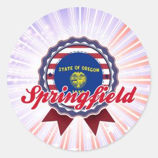 Springfield, O Pegatina Redonda