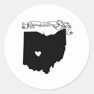 Springfield Ohio Classic Round Sticker