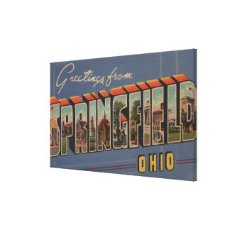 Springfield, Ohio - Large Letter Scenes Canvas Print