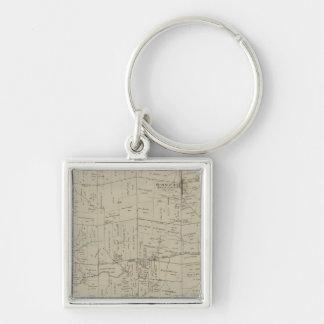 Springfield, Ohio Silver-Colored Square Keychain