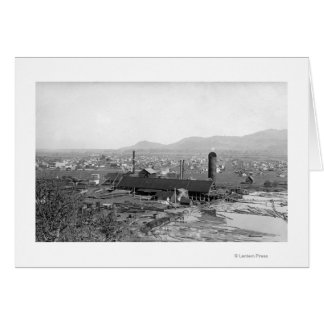 Springfield, OR Town View and Lumber Mills Card