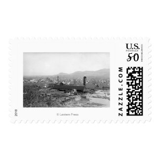 Springfield, OR Town View and Lumber Mills Postage