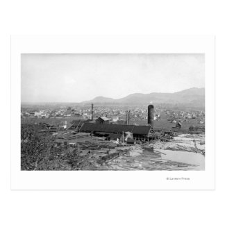 Springfield, OR Town View and Lumber Mills Postcard