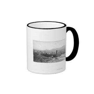 Springfield, OR Town View and Lumber Mills Ringer Mug
