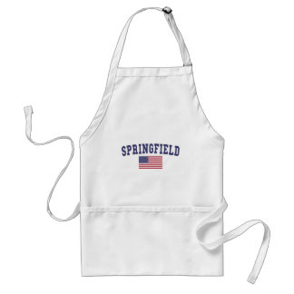 Springfield OR US Flag Adult Apron
