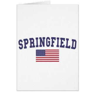 Springfield OR US Flag Card