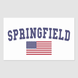 Springfield OR US Flag Rectangular Sticker