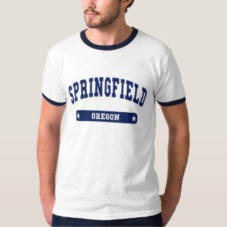 Springfield Oregon College Style tee shirts