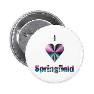 Springfield -- Purple & Turquoise Pinback Button