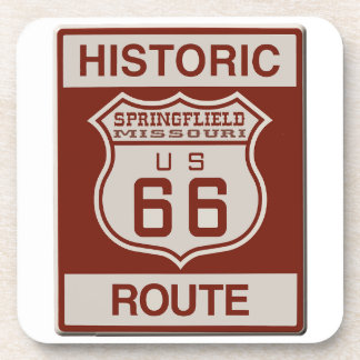 Springfield Route 66 Drink Coaster