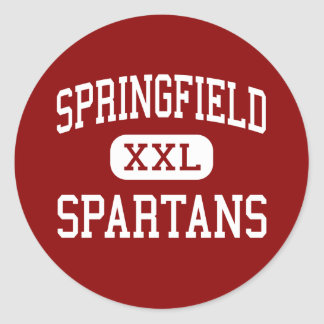 Springfield - Spartans - High School - Akron Ohio Classic Round Sticker