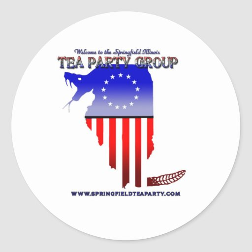 Springfield Tea Party Support Decal Classic Round Sticker
