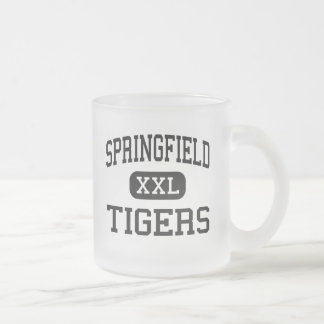 Springfield - Tigers - High - New Middletown Ohio Frosted Glass Coffee Mug
