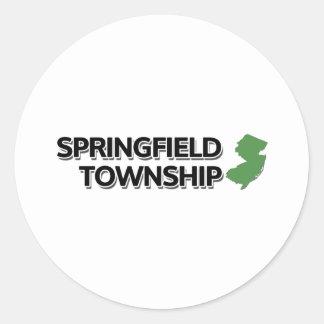 Springfield Township, New Jersey Classic Round Sticker