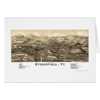Springfield, VT Panoramic Map - 1886 Greeting Card
