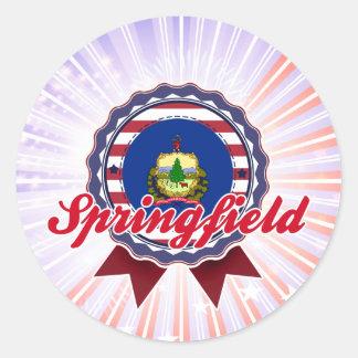 Springfield, VT Pegatina Redonda