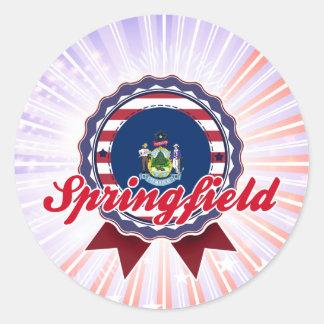 Springfield, YO Pegatina Redonda