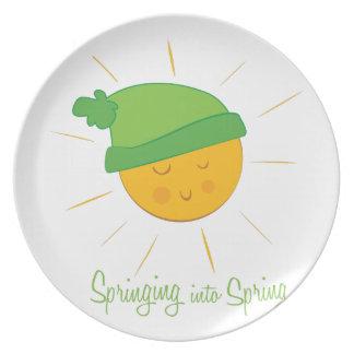 Springing into Spring Dinner Plates