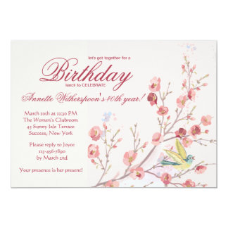 Spring's Embrace Birthday Party Invitation