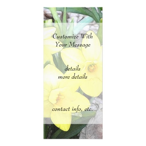 Spring's First Daffodils Rack Card Template
